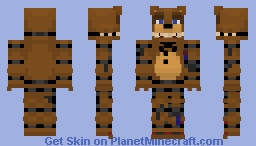 FNaF 2 ~ Withered Freddy ~ Minecraft skin! Minecraft Skin