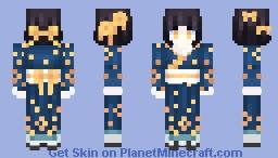 Historical Splendour || Orange Blossom Kimono Minecraft Skin