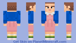 Eleven (Better in 3D) Stranger Things Minecraft Skin