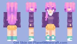 Pink Vampy Minecraft Skin
