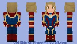 Carol Danvers - Captain Marvel Minecraft Skin
