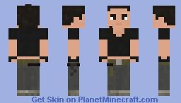 The Walking Dead-Rosita 9x08 Minecraft Skin
