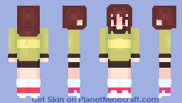 Chara. Minecraft Skin