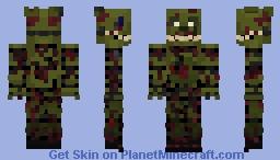 FNaF 3 ~ Springtrap ~ Minecraft skin! [Remake!] Minecraft Skin
