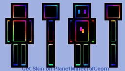 Black and Rainbow Nova Minecraft Skin