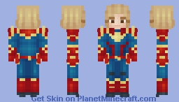Captain Marvel (Teen Version in Desc) | ~𝘈𝘭𝘺𝘴𝘴𝘢~ Minecraft Skin