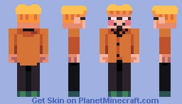 EarthBound - Orange Kid Minecraft Skin