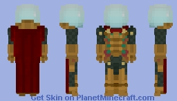 Spiderman Far From Home: Helmeted Mysterio Minecraft Skin