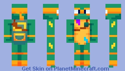 Michelangelo - Rise of the TMNT Minecraft Skin