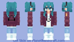 Hatsune Miku - Sand Planet Minecraft Skin