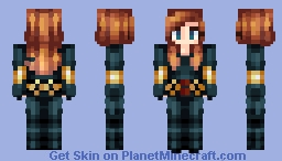 Natasha Romanoff—Black Widow Minecraft Skin