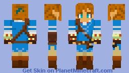 Hyrule's Champion (Link, BoTW) Minecraft Skin