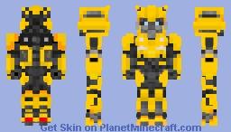 Bumblebee form Bumblebee movie! [Update] Minecraft Skin