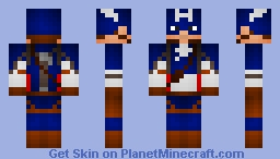Captain America Field Uniform (MCU Captain America: The First Avenger) Minecraft Skin