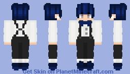 Classy Dark-Blue (4px) Minecraft Skin