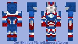 """Iron Patriot (James """" Rhodey """" Rhodes) Minecraft Skin"""