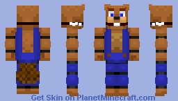 A FNAF animatronicized Mr. Chipper from chipper and son's lumber Co. Minecraft Skin