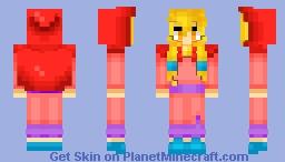 Mustache Girl Minecraft Skin