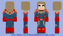 Captain Marvel - Avengers: Endgame Minecraft Skin