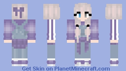 Overalls - Purple shirt and Sweater Minecraft Skin