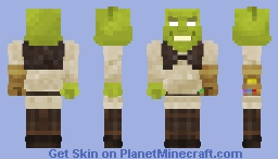 Dank Shrek (featuring Infinity Gauntlet from the Marvel™ series) Minecraft Skin