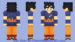 Goku - Ultra Instinct (Omen) (Shirt Ripped) Minecraft Skin