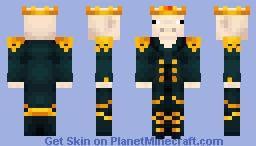 Pig black king Minecraft Skin