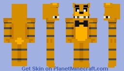 Golden Freddy Minecraft Skin