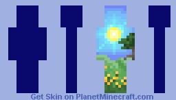 sun on the hills - pixel art Minecraft Skin