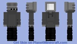 Black & White Television Minecraft Skin