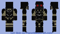 Custom super soldier (loosely based off of Grace Omegas soldiers) Minecraft Skin