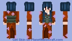 Chinese Using Kimono Minecraft Skin