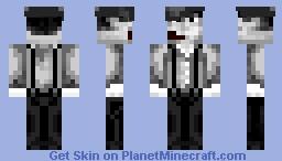 Monochrome 1920's Worker Minecraft Skin