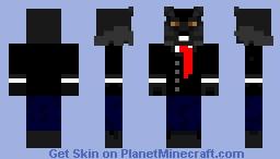 Black/Dark Gray Werewolf in Tuxedo