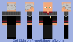 Star Trek Captain Picard Fist Contact.NS Minecraft Skin