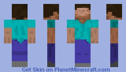 Faceless Steve Minecraft Skin