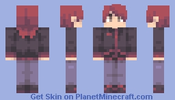 Trainer Silver:Pokemon HGSS Minecraft Skin