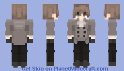 Goro Akechi // Crow // Justice Minecraft Skin