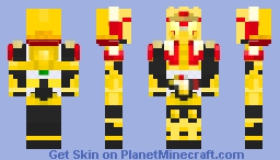 Kamen Rider Mars Golden Arms Minecraft Skin