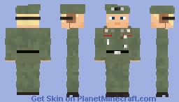 WW2 German SPG Crew(M1934 beret) Minecraft Skin