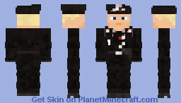 WW2 German Tank Crew(M1934 black beret) Minecraft Skin
