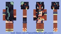 🌊 𝓽𝓱𝓮 𝓻𝓪𝓰𝓲𝓷𝓰 𝔀𝓪𝓿𝓮! 🌊 Minecraft Skin