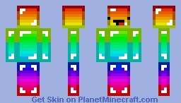 Rainbow Minecraft Noob Minecraft Skin
