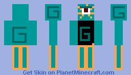 Guardian Wearing Clothes Minecraft Skin