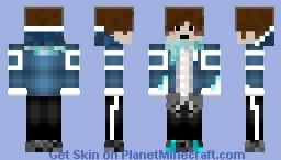 Blue Male Boi Minecraft Skin
