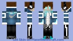 Blue Skin V2 Minecraft Skin