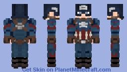 Captain America | Avengers | Endgame Minecraft Skin