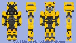 B-127 form Bumblebee movie! Minecraft Skin