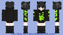 Aesthetic Toxic Spill Minecraft Skin