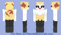 Braixen (But more detailed) Minecraft Skin